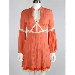 Ark & Co Bell Sleeve Lace Boho A-Line Dress